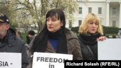 Акция протеста в Вашингтоне против нарушения прав человека в России, 31 марта 2011 г