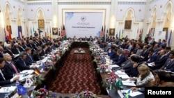 Pamje nga konferenca e sotme në Kabul të Afganistanit