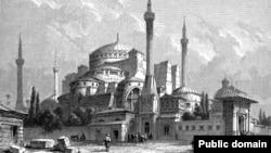 Turkey -- illustration of Hagia Sophia from 1800s