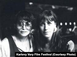 Кинорежиссер Вера Хитилова и актриса Дагмар Блахова, 1988