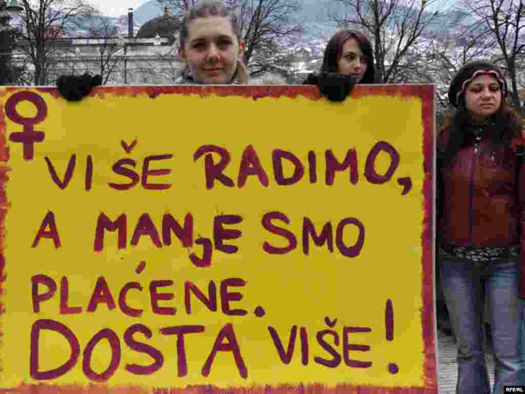 Međunarodni dan žena u Sarajevu - Foto: Midhat Poturović