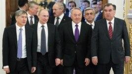 Президенты стран-участниц саммита Организациа договора о коллективной безопасности. Москва, 19 декабря 2012 года.