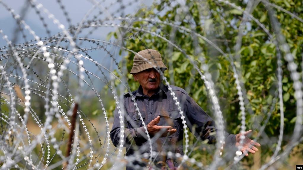 «Граница» между Грузией и сепаратистским регионом «Южная Осетия». Иллюстрационное фото