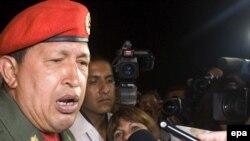Venezuelan President Hugo Chavez has spoken out in support of Argentina