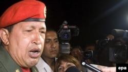 Venezuelan President Hugo Chavez has spoken out in support of Argentina