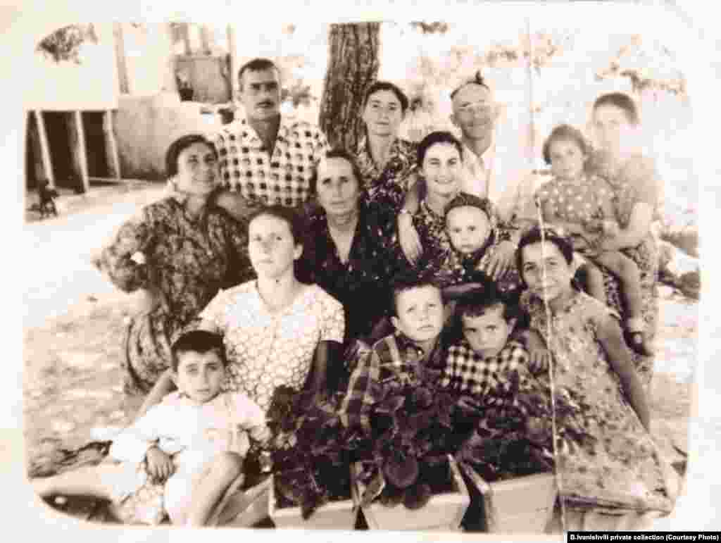 Bidzina Ivanishvili (front row, second from right) around the age of four with his family in the village of Chorvila, Imereti, where he was born on February 18, 1953.