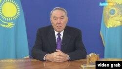 Қазақстан президенті Нұрсұлтан Назарбаев үндеу айтып отыр. Астана, 25 қаңтар 2017 жыл. (Көрнекі сурет)