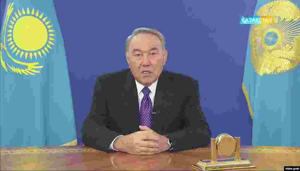 25 января Нурсултан Назарбаев выступил в эфире местных телеканалов с обращением к народу Казахстана. Он заявил, что инициирует реформу по перераспределению полномочий между ветвями власти. Назарбаев сказал, что намерен делегировать часть своих полномочий парламенту и правительству с тем, чтобы «отвечать вызовам времени» и соответствовать духу «демократических реформ». Поправки к Конституции были приняты парламентом за два рабочих дня. С точки зрения властей, изменения усиливают ответственность парламента и правительства за состояние дел в стране. Международная организация Freedom Houseназвала реформу «еще одним слоем краски» на старом фасаде.