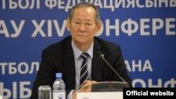 Сейілдә Байшақов, Қазақстан футбол федерациясының жаңа президенті. Сурет ҚФФ-ның ресми сайтынан алынды.
