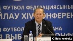 Сеильда Байшаков, президент Федерации футбола Казахстана (ФФК). Астана, 28 ноября 2016 года.