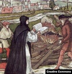 Martin Luther Papanın fətvasını yandırır, 16-cı əsr