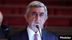 Армения президенті Серж Саргсян. Ереван, 5 желтоқсан 2014 жыл.