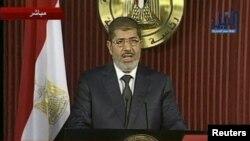 نطق تلویزیونی مرسی در شامگاه پنجشنبه