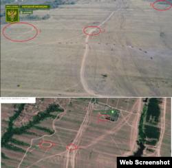 Около двух километрах к югу от поселка шахты Новопавловской