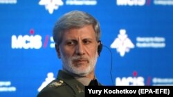 RUSSIA -- Iranian Defense Minister Amir Hatami attends the annual Moscow Conference on International Security (MCIS) in Moscow, Russia April 24, 2019