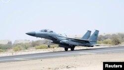 اعزام یک جنگنده سعودی برای بمباران یمن