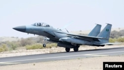 Истребитель возглавляемой Саудовской Аравией коалиции. Иллюстративное фото.