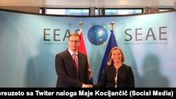 Aleksandar Vučić i Federica Mogherini, arhivskih snimak