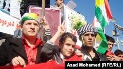 منة مظاهرات السليمانية يوم الثلاثاء 15 آذار