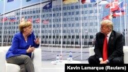 Встреча Дональда Трампа и Ангелы Меркель в Брюсселе