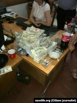 Raid at the office of Uzbek businessman Akhmadboy Tursunboyev