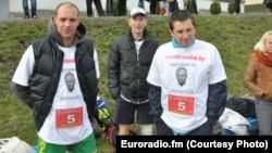 The activists were arrested after a marathon in Minsk that they ran wearing T-shirts bearing the likeness of Mikalay Statkevich, a former presidential candidate who is currently in jail.