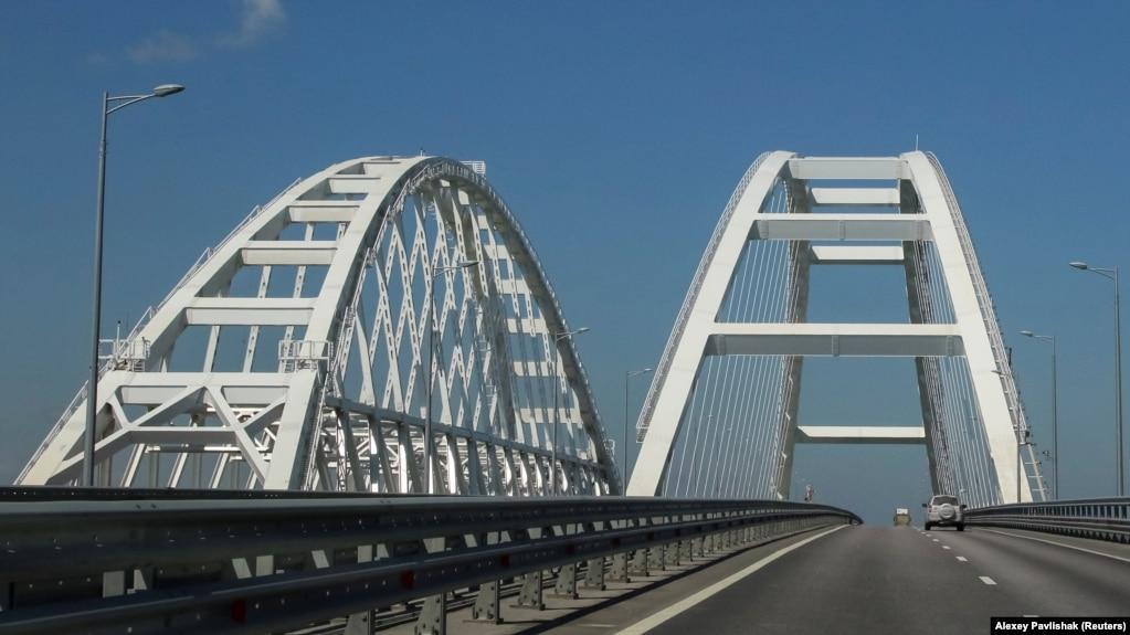 Керченский мост, апрель 2019 года
