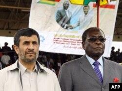 Президент Ирана Махмуд Ахмадинежад - один из ближайших друзей Роберта Мугабе