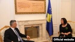 Pamje nga një takim i mëparshëm i presidentes Atifete Jahjaga dhe kryeministrit Hashim Thaçi