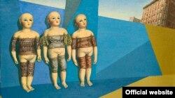 Натюрморт со старинными куклами Михаила Одноралова.
