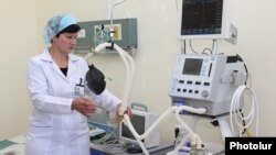 Armenia -- A newly refurbished hospital in Goris, 22Dec2010.