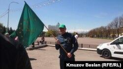 Черкесский активист в Нальчике (архивное фото)