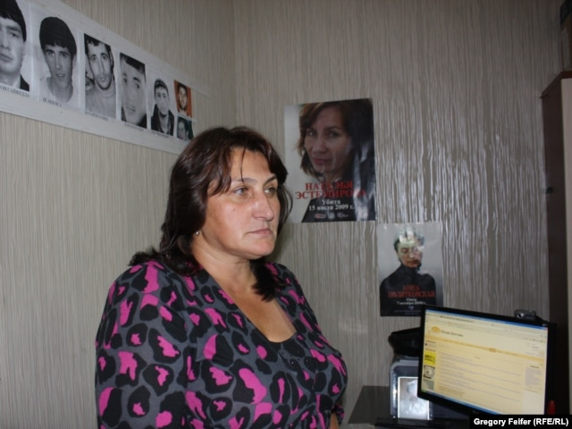 Svetlana Isayeva, head of the group Mothers of Daghestan for Human Rights, in Makhachkala.