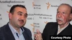 Mircəfər Bağırov haqda kitab yazmış Adıgözəl Məmmədov və Teyyub Qurban.