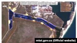Видобуток токсичного піску в Криму, знімки з космосу