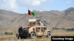 FILE: An Afghan National Army patrol in Wardak Province.