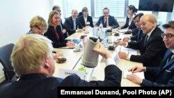 یکی از نشستهای ماهانه وزیران خارجه اتحادیه اروپا در لوکزامبورگ