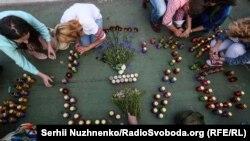 Вшанування пам'яті військових збитого бойовиками літака Іл-76, Київ, 13 червня 2017 року