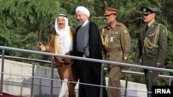 Sheikh Sabah al-Ahmad Al-Sabah və Hassan Rouhani