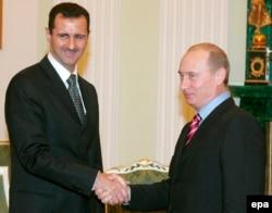 Сирия президенті Башар Асад пен Ресей президенті Владимир Путин. Мәскеу, 19 желтоқсан 2006 жыл.