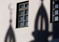 Shadows of the Kul Sharif Mosque on the walls of Kazan's kremlin (AFP)