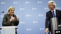Марин Ле Пен и Герт Вилдерс - союзники по борьбе с Евросоюзом
