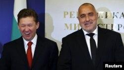 Bivši bugarski premijer Bojko Borisov i izvršni direktor Gasproma Aleksej Miler, novembar 2012.