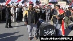 تظاهرة للتيار الصدري في البصرة