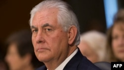 Former ExxonMobil CEO Rex Tillerson (file photo)