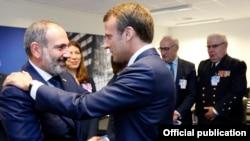 Встреча Пашинян-Макрон в Брюсселе, 11 июля 2018 г.