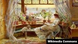 Чарлс Джэймс Люіс, «Чытаньне каля акна. Гастынгс» (1880)