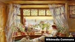 Чарлс Джэймс Люіс, «Чытаньне каля акна. Гастынгс», 1880