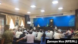 Суд по делу 38 бывших сотрудников полиции. Шымкент, 13 июля 2018 года.