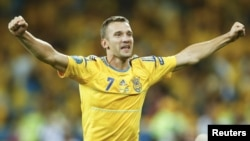 Andriy Shevchenko has played 111 times for his country, scoring 48 goals.